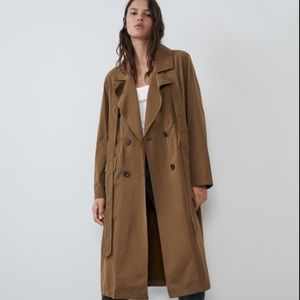 ZARA TRENCH COAT WITH CONTRAST PIPING